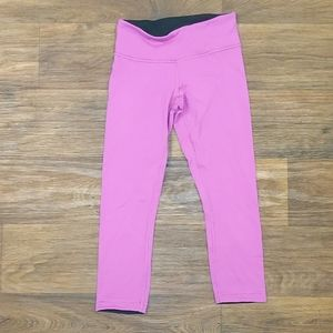 Lululemon Purple Capri Cropped Leggings Sz 4